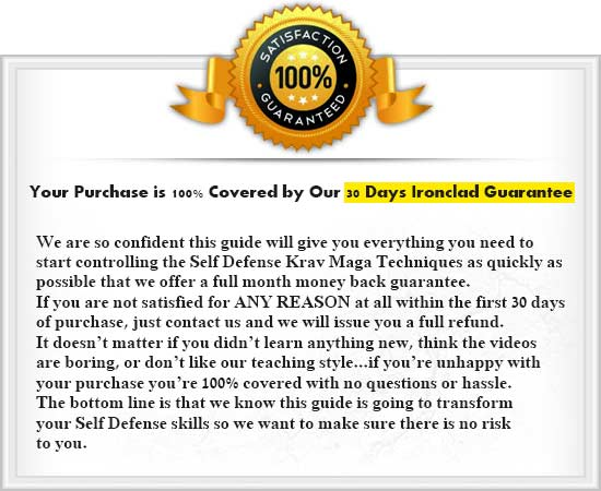 30 Days Guarantee - Krav Maga Video Course